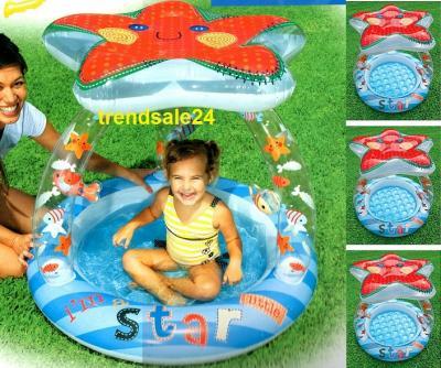 seestern baby pool planschbecken sonneschutz dach ebay. Black Bedroom Furniture Sets. Home Design Ideas