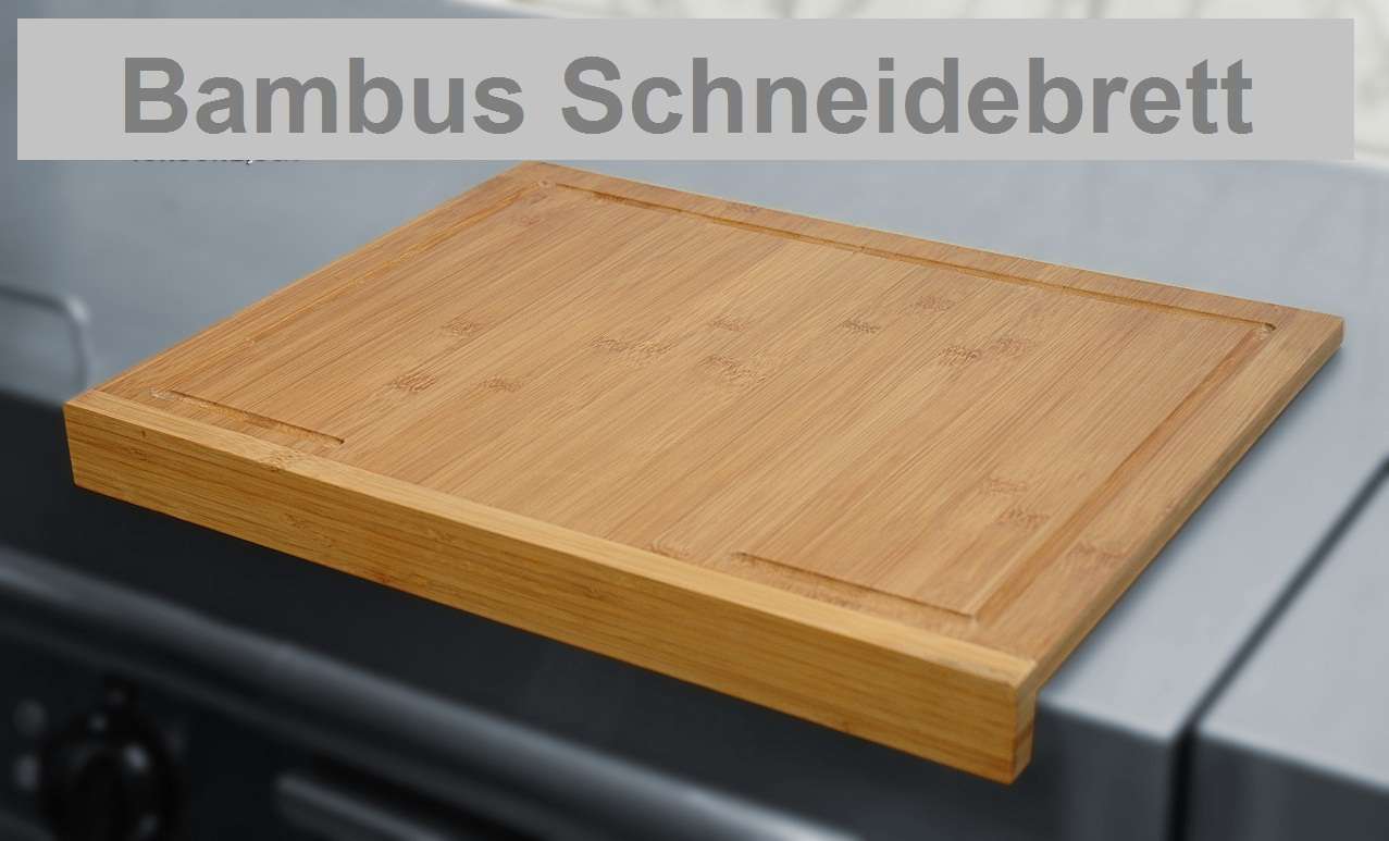 xl bambus schneidebrett 45 x 35cm mit kante f rtisch ebay. Black Bedroom Furniture Sets. Home Design Ideas