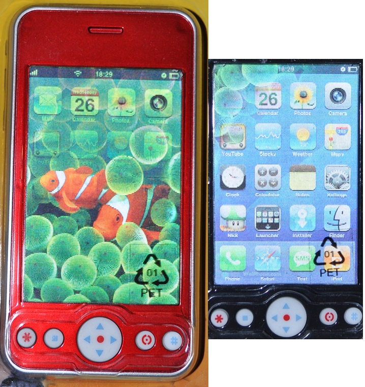 Kinder handy rot spielzeug telefon sounds hologramm ebay