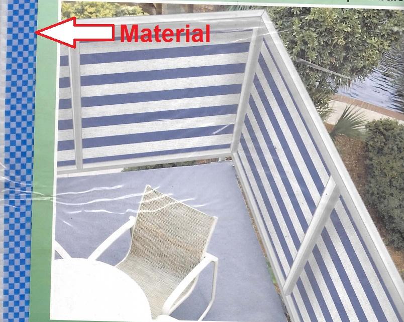 balkonverkleidung 500x90 cm sichtschutz windschutz f balkon ebay. Black Bedroom Furniture Sets. Home Design Ideas