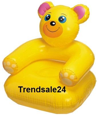 Intex kindersessel sessel aufblasbar teddy b r gelb ebay for Sessel aufblasbar