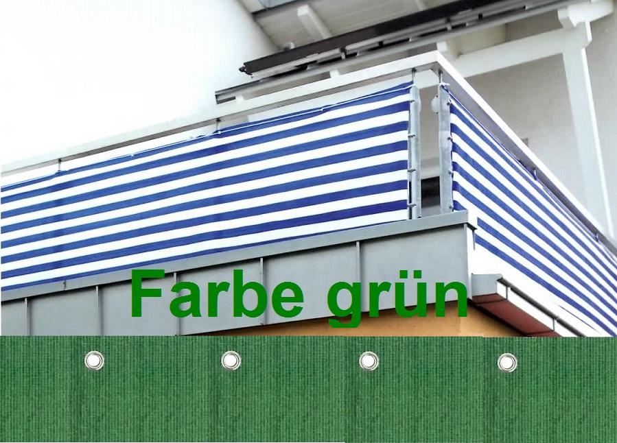sichtschutz windschutz balkon balkonverkleidung 500x90cm gr n ebay. Black Bedroom Furniture Sets. Home Design Ideas