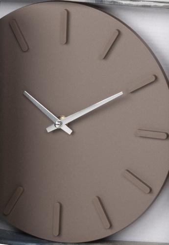 Moderne design wanduhr uhr 24 5 cm braun ebay for Moderne wanduhren design