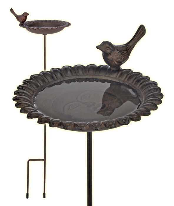 vogeltr nke vogel tr nke gusseisen mit stab design antik ebay. Black Bedroom Furniture Sets. Home Design Ideas