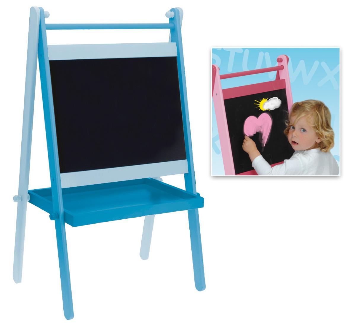 blau holz tafel kinder tafel standtafel schultafel ebay. Black Bedroom Furniture Sets. Home Design Ideas