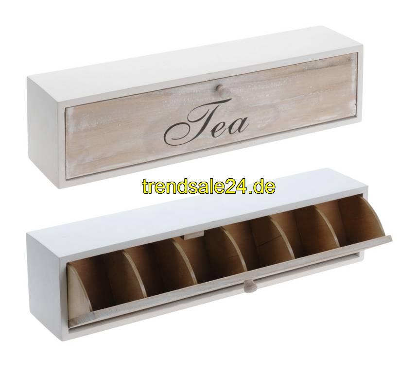 teekiste teebox lang holz teebeutel aufbewahrung cm lang. Black Bedroom Furniture Sets. Home Design Ideas
