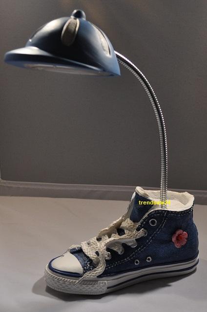 led lampe kinder schreibtischlampe schuh blau ebay. Black Bedroom Furniture Sets. Home Design Ideas