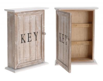 Schlüsselkasten HOLZ Weiß Schlüsselschrank NOSTALGIE KEY | eBay