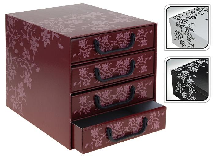 aufbewahrungsbox aufbewahrungskiste 4er schubladenbox ebay. Black Bedroom Furniture Sets. Home Design Ideas