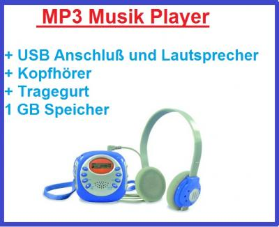 tragbarer kinder mp3 player usb musik player inklusive kopfh rer ebay. Black Bedroom Furniture Sets. Home Design Ideas