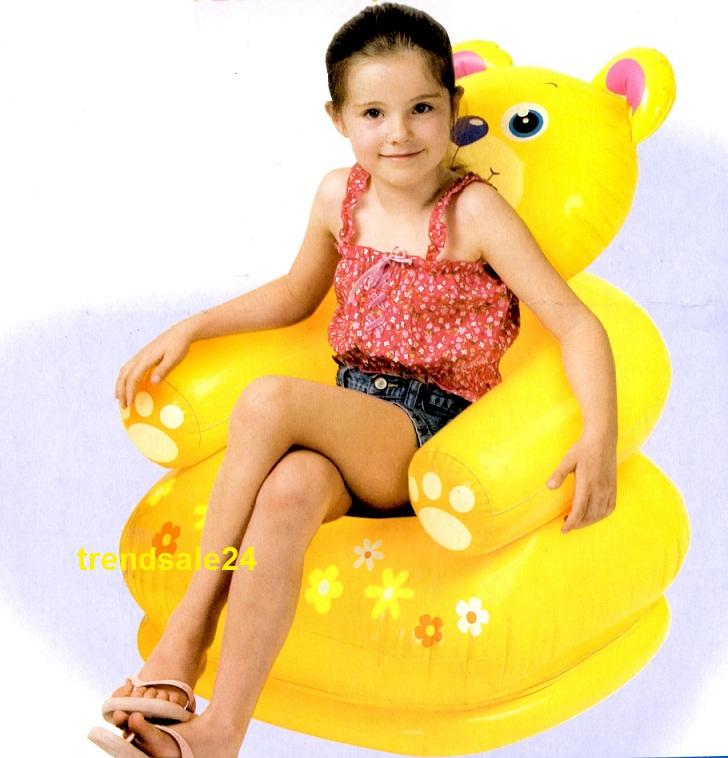 Intex kindersessel sessel aufblasbar frosch nilpferd oder for Sessel aufblasbar