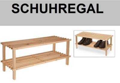 schuhregal schuhst nder schuhablage natur holz 2 boden. Black Bedroom Furniture Sets. Home Design Ideas