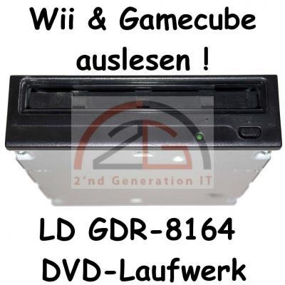 Gamecube-Wii-auslesen-DVD-ROM-Laufwerk-LG-GDR-8164B-16x-DVD-52x-CD-schwarz-C-W