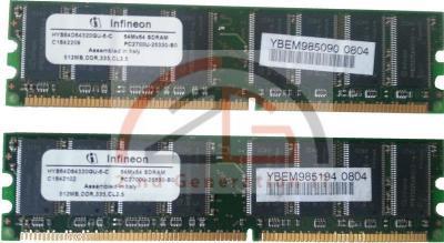1GB-DUAL-KIT-2x-512MB-DDR-PC-RAM-Speicher-400MHz-PC-3200U-CL3-Original-Infineon