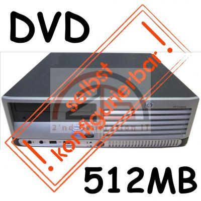 Computer-HP-Compaq-DC5100-Sff-Mini-PC-Intel-P4-HT-3-GHz-DVD-512MB-Aufruest-System