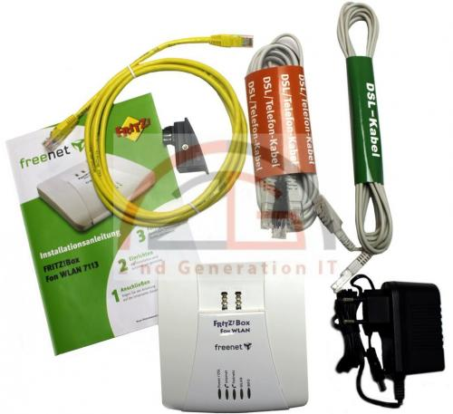 FRITZ-Box-Fon-WLAN-7113-AVM-Fritzbox-Router-ADSL2-125-Mbit-2x-analog-1x-LAN-TOP