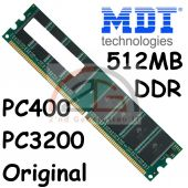 Original MDT 1x 512MB 0,5 GB DDR PC RAM Speicher 400MHz PC-3200U PC400 CL2,5