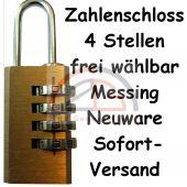 4 stelliges Zahlenschloss Messing 20mm x 61mm Keda Lock Koffer Schloss Schloß