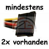 400W ATX Netzteil Standard min. 2x IDE / 2x SATA / 1x Floppy / 20+4 PIN / P4 TOP