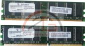 1GB DUAL KIT 2x 512MB DDR PC RAM Speicher 400MHz PC-3200U CL3 Original Infineon