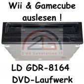 Gamecube & Wii auslesen DVD-ROM Laufwerk LG GDR-8164B 16x DVD 52x CD schwarz C-W