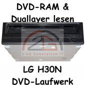 DVD-ROM LG GDR-H30N DVD Laufwerk 16x DVD 52x CD schwarz DVD-RAM Duallayer C-W