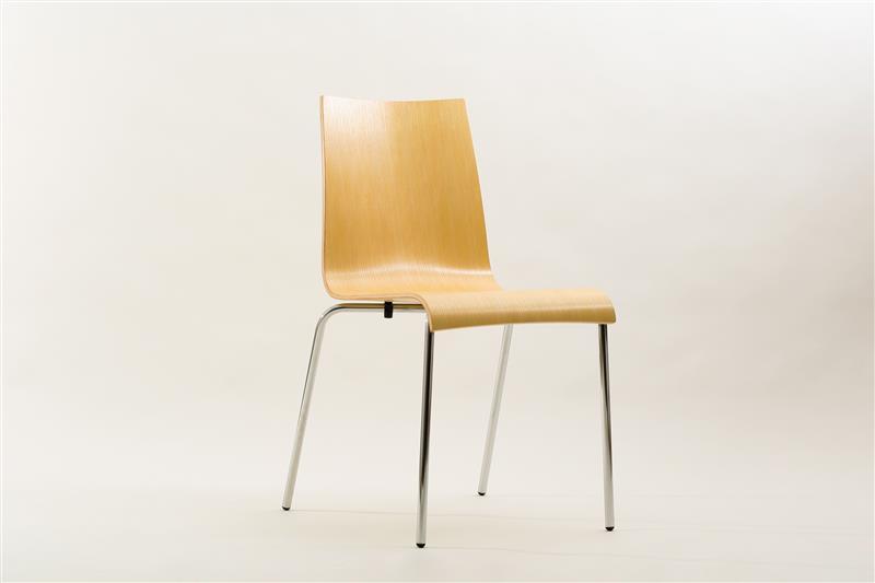 Design schalenstuhl mit chromgestell stapelbar for Schalenstuhl design