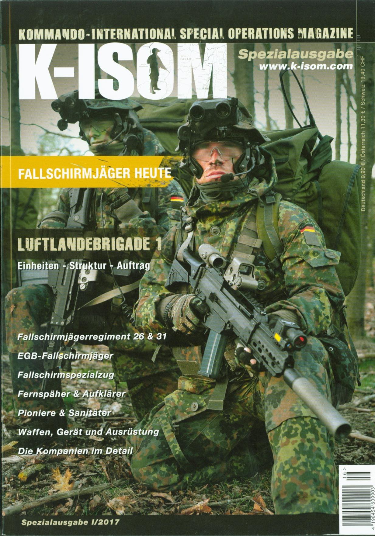 K-ISOM I/2017 Spezial: Fallschirmjäger Luftlandebrigade Einheiten ... | {Sanitäter bundeswehr 68}