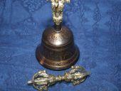 Original Tibet  Ghanta Tempelglocke reich verziert