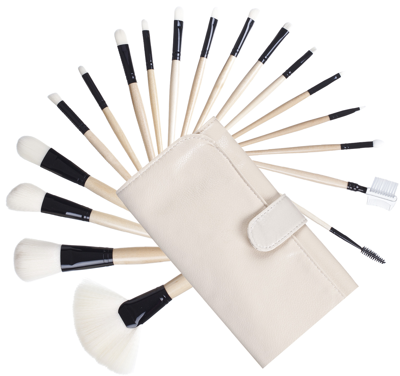 18tlg veledia kosmetik pinsel set make up synthetik brush. Black Bedroom Furniture Sets. Home Design Ideas