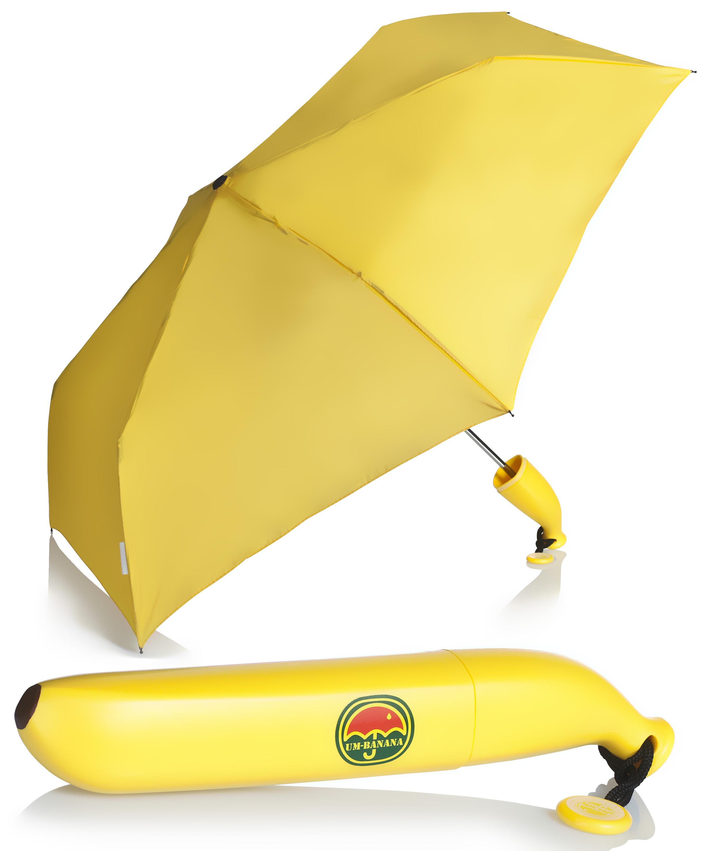 bananen regenschirm banana taschenschirm banane schirm klappschirm bananenform ebay. Black Bedroom Furniture Sets. Home Design Ideas