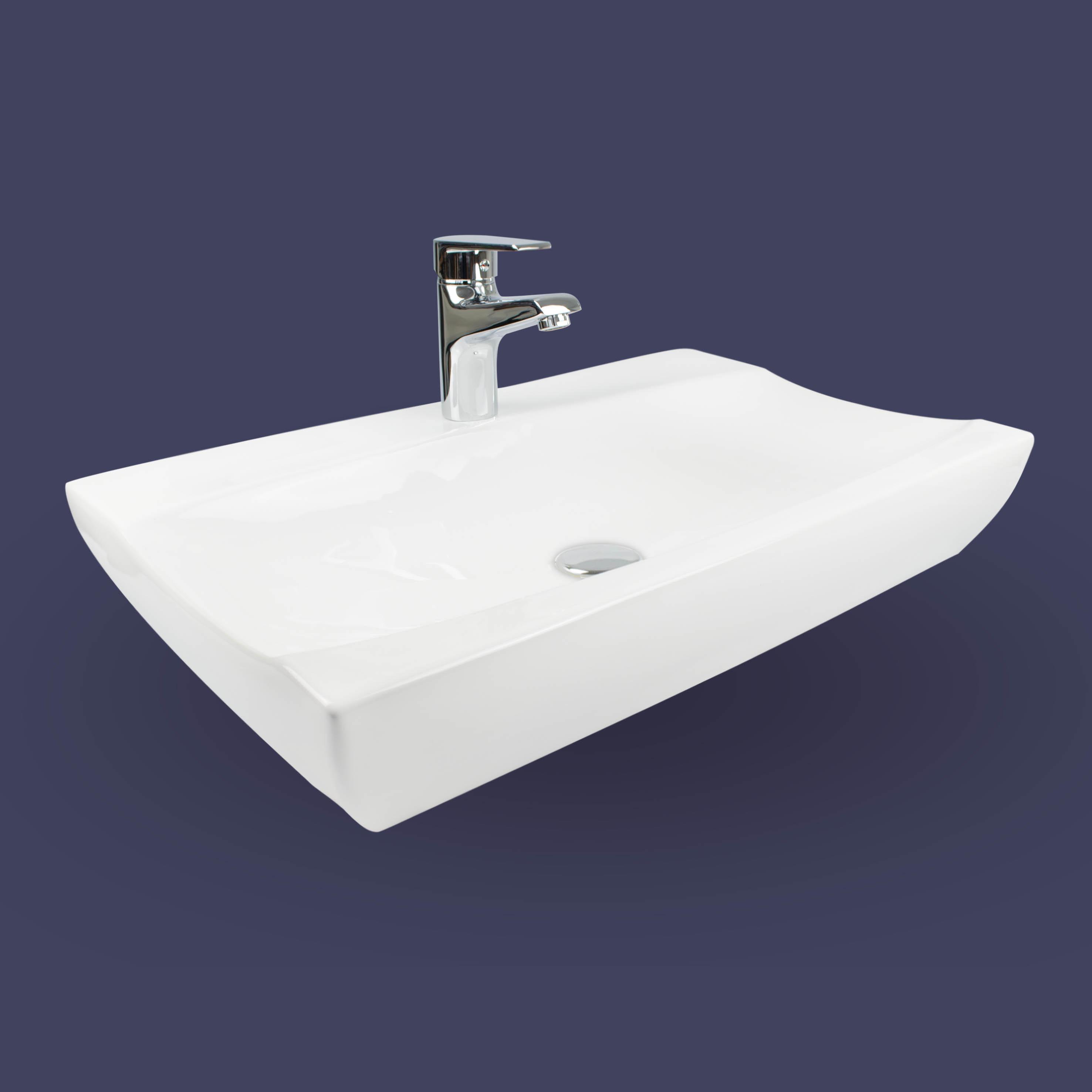 aufsatz waschbecken mit nano beschichtung keramik waschschale f r tischmontage ebay. Black Bedroom Furniture Sets. Home Design Ideas