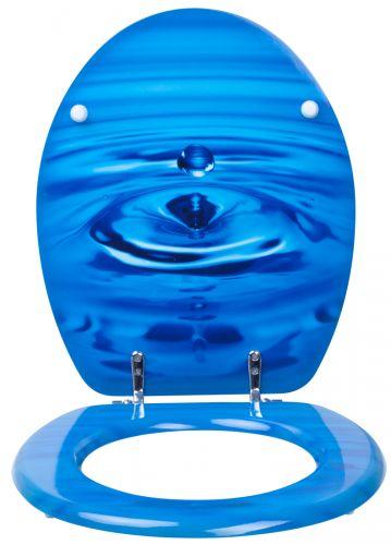wc sitz blau