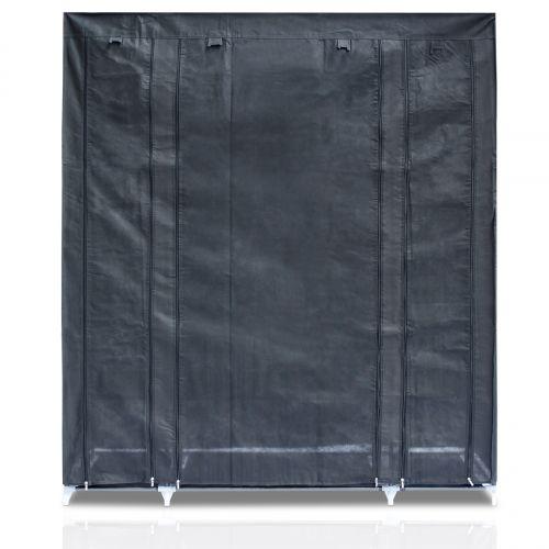 venkon xxl kleiderschrank stecksystem faltschrank textilgarderobe schrank ebay. Black Bedroom Furniture Sets. Home Design Ideas