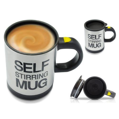 selbstr hrender kaffee becher tasse thermobecher lazy self. Black Bedroom Furniture Sets. Home Design Ideas