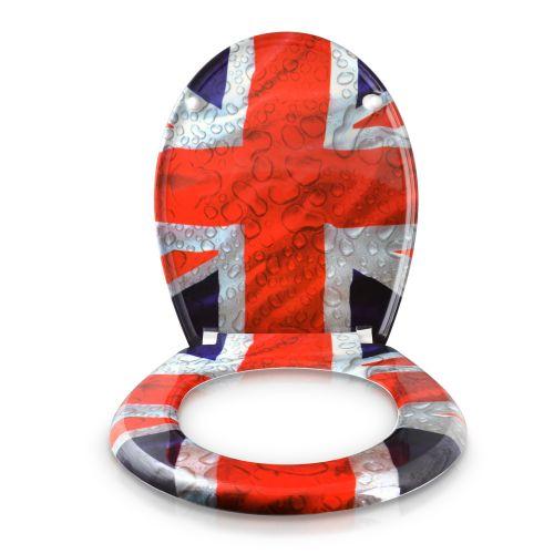 wc sitz toilettendeckel absenkautomatik klobrille union jack flagge uk england ebay. Black Bedroom Furniture Sets. Home Design Ideas