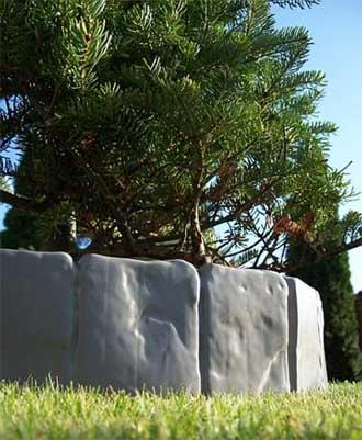 zaun rasenkante beeteinfassung stein 2 50 m x 10 cm ebay. Black Bedroom Furniture Sets. Home Design Ideas
