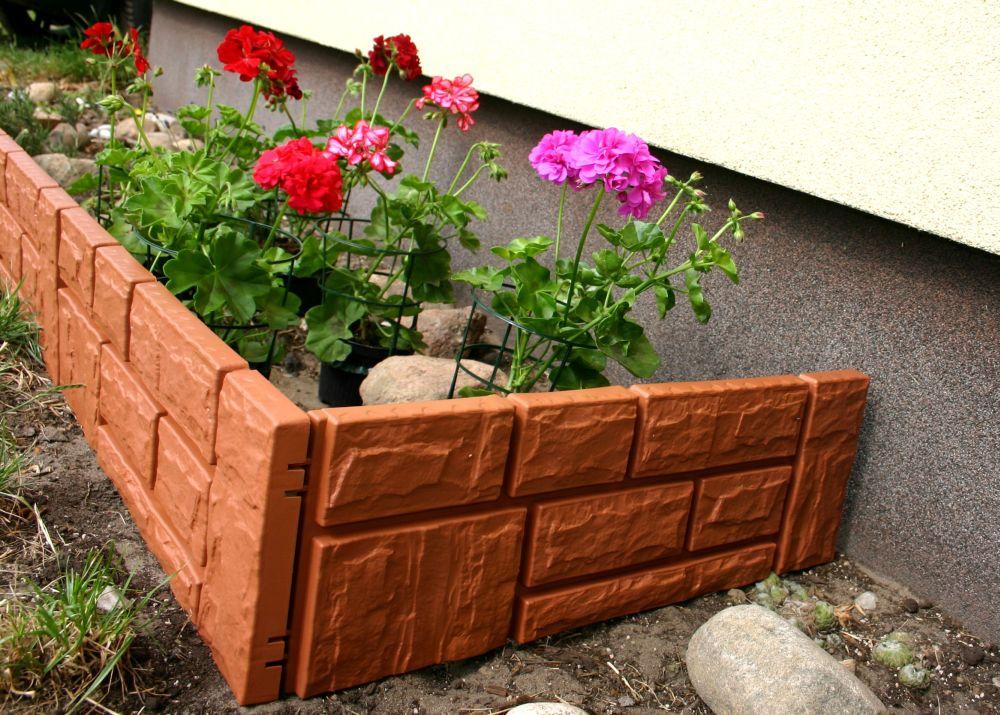 zaun rasenkante beeteinfassung stein 2 34 m x 20 cm. Black Bedroom Furniture Sets. Home Design Ideas