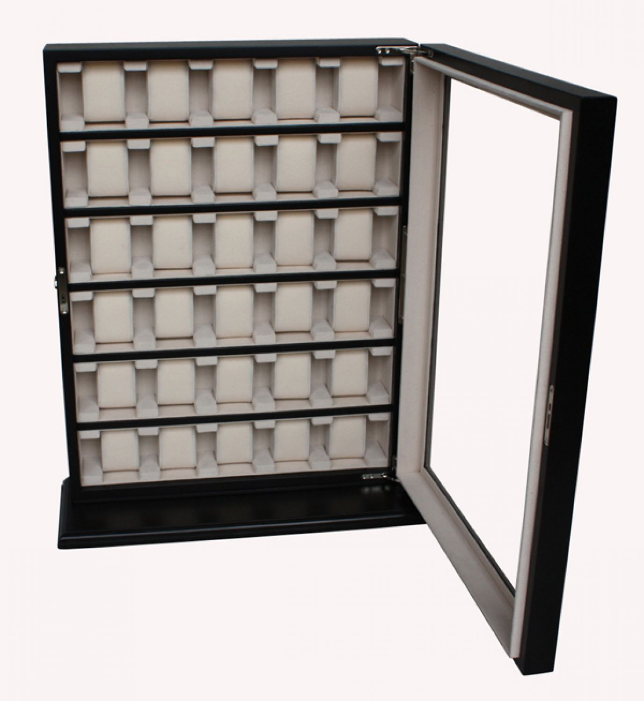 1 a qualit t elegante uhrenbox black f r die wandmontage. Black Bedroom Furniture Sets. Home Design Ideas
