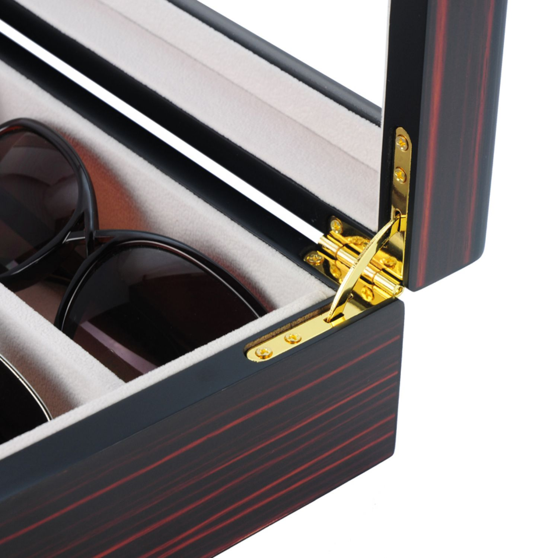 fr hlingsaktion uhrenbox brillenbox von woolux f r 6 uhren und 3 brillen ebay. Black Bedroom Furniture Sets. Home Design Ideas