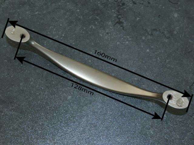 Wellmann küchen griffe  4 x Küchengriff 128mm Lochabstand Edelstahl Küche Griff Bügelgriff ...