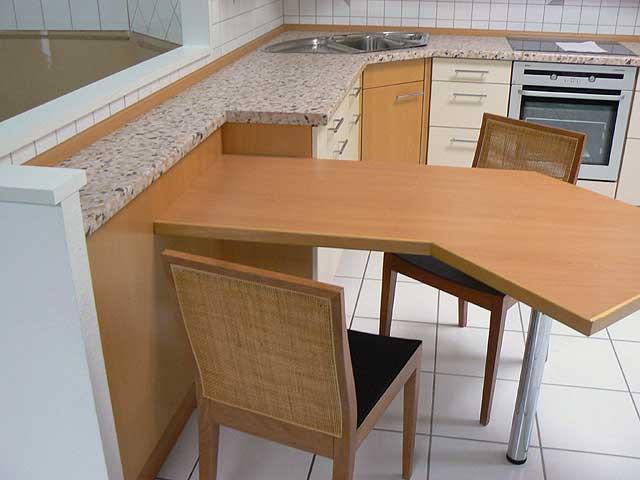 l- küche viele auszüge eckschrank buche musterküche einbauküche