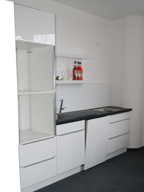 nobilia messek che k chenzeile weiss hochglanz lack. Black Bedroom Furniture Sets. Home Design Ideas