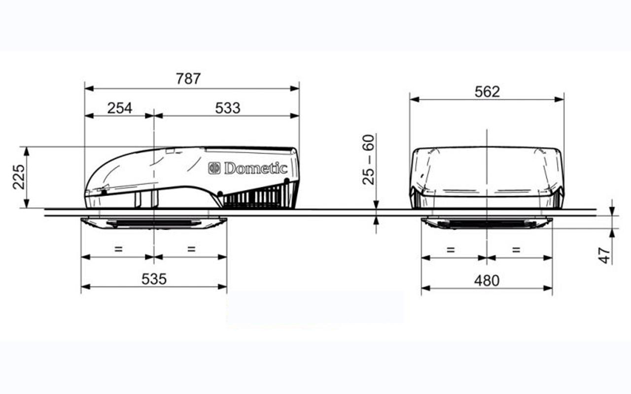 Dometic dachklimaanlage softstart klimaanlage wohnmobil for Wohnwagen mit klimaanlage