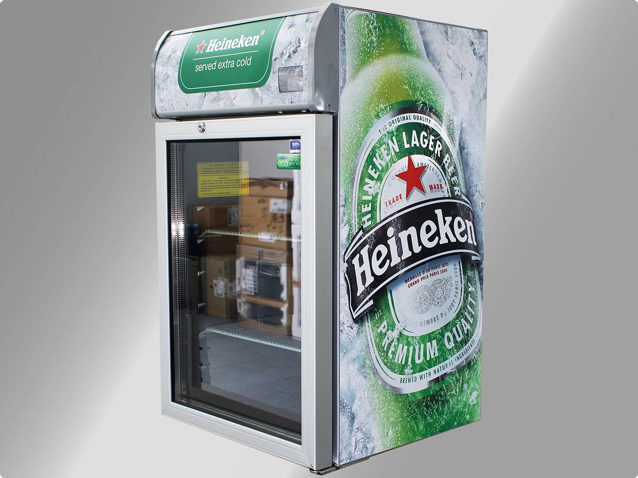 81 5 cm sfa cool cmv100 heineken getr nkek hlschrank isolierglast r gastro k hl ebay. Black Bedroom Furniture Sets. Home Design Ideas