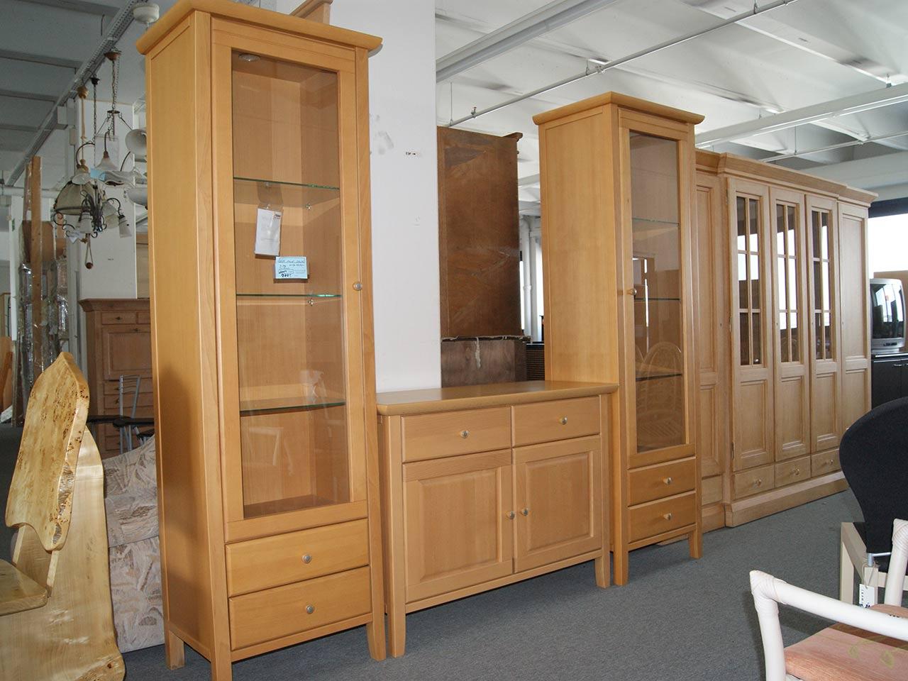 speisezimmer sideboard vitrine buche 3 teilig steinhoff. Black Bedroom Furniture Sets. Home Design Ideas