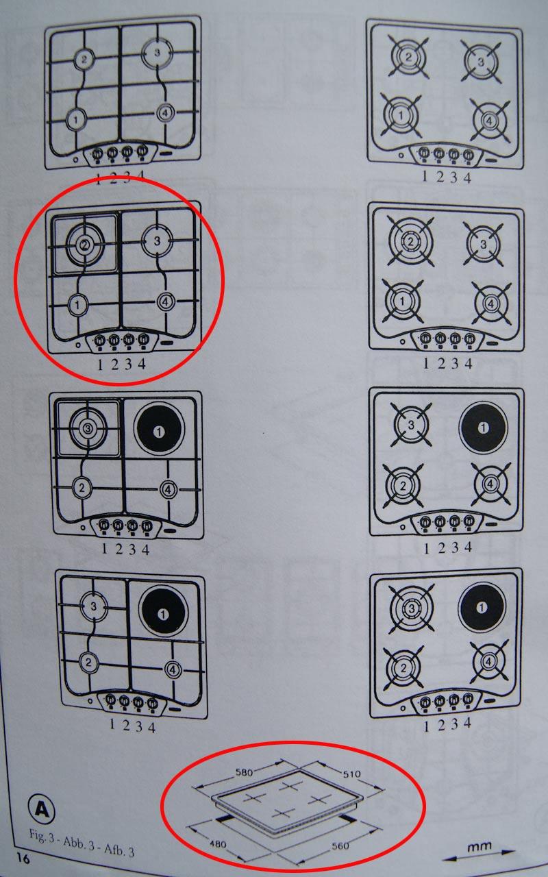 58 cm jan kolbe gaskochfeld orig 539 z ndsicherung edelstahl knebel fontal ebay. Black Bedroom Furniture Sets. Home Design Ideas