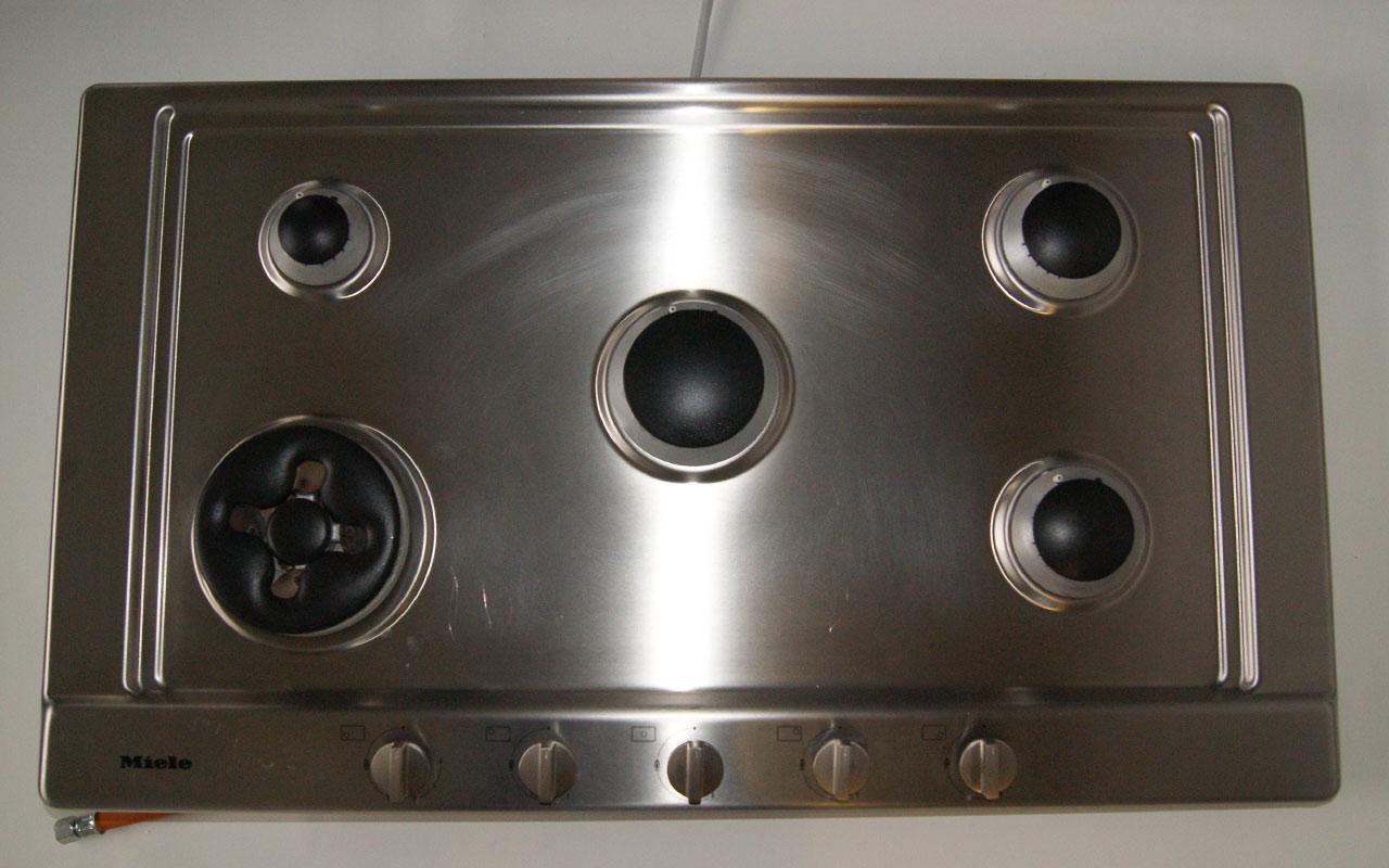 90 cm miele gaskochfeld autark 5 flammig wok brenner gas stop ebay. Black Bedroom Furniture Sets. Home Design Ideas