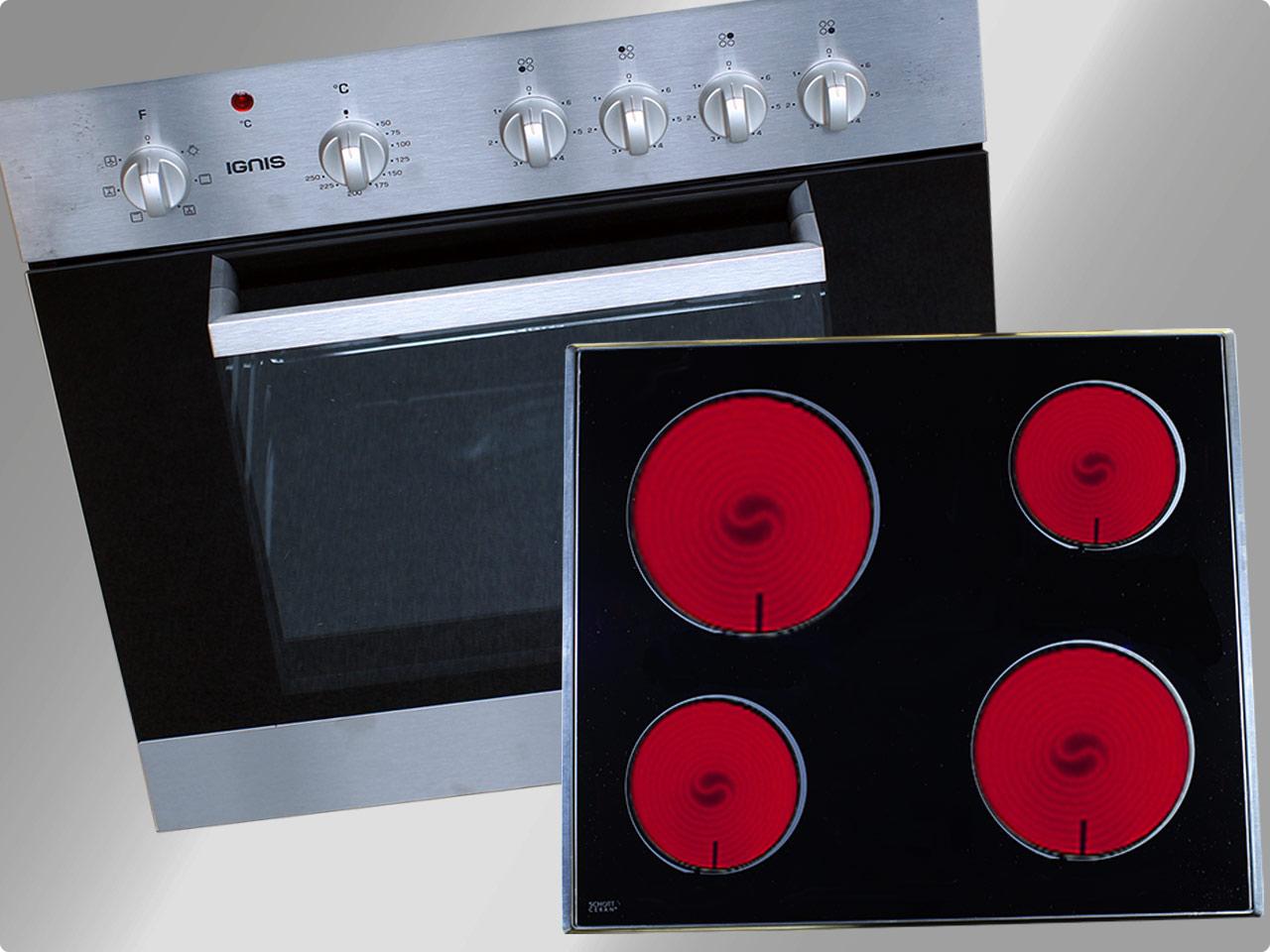 aks 2010 ix einbau herdset ober unterhitze umluft grill ceranfeld schott 2 wahl ebay. Black Bedroom Furniture Sets. Home Design Ideas