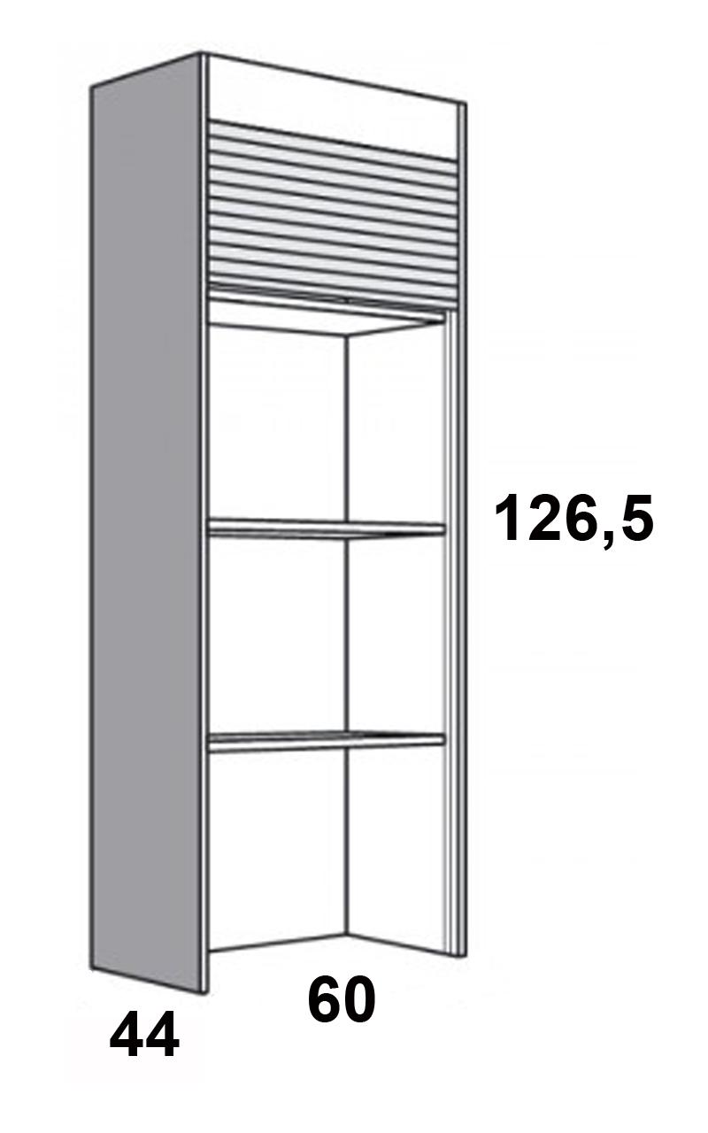 126 5 x 60 x 44 cm hxbxt wellmann aufsatzschrank orig 837 jalousie schrank ebay. Black Bedroom Furniture Sets. Home Design Ideas